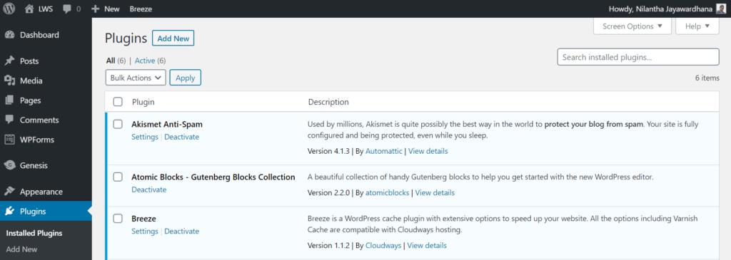 plugins wordpress dashboard